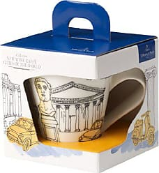 Villeroy & Boch New Wave Caffé Cities of the World Mug Rome By Villeroy & Boch - Premium Porcelain - Made in Germany - Dishwasher and Microwave Safe - Gift Boxed - 11.75 Ounce Capacity