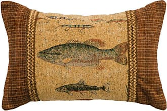 Wooded River Reel Time Rectangle Decorative Throw Pillow - WD23570