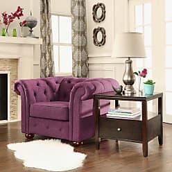 Weston Home Bowman Linen Livingroom Chair Purple - 68E208C-PL1CHR