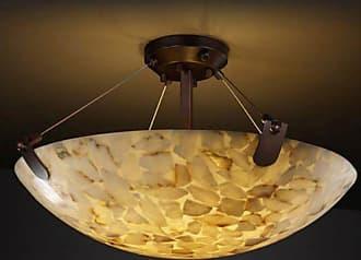 Justice Design Alabaster Rocks! U-Clips ALR-9614-35 Semi Flush Mount Light - ALR-9614-35-DBRZ-LED6-6000
