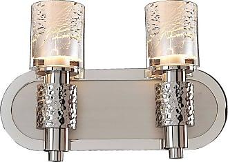 Kalco Ashington 2-Light Bath Vanity in Polished Satin Nickel
