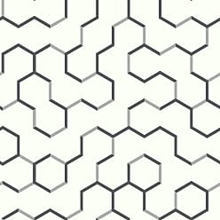 RoomMates Open Geometric Peel and Stick Wallpaper Gray - RMK9091WP