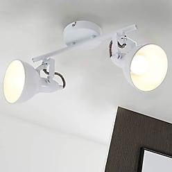 E14 Deckenlampe 5 flammige Design Deckenleuchte schwenkbar Stoffschirme weiß