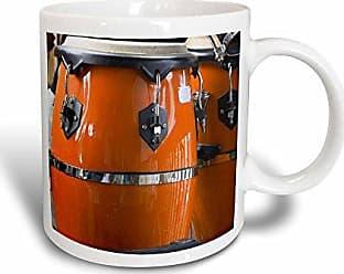 3D Rose 3dRose Orange Conga Drums Magic Transforming Mug, 11-Ounce