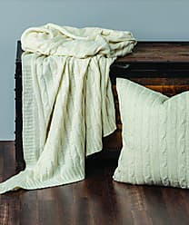 Rizzy Home Cable Knit Throw Blanket, Cream