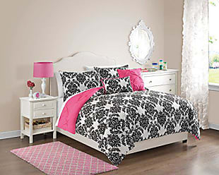 VCNY Home VCNY 5 Piece Olivia Reversible Comforter Set, Full/Queen, Hot Pink