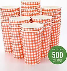 Restaurantware RWA0280RP Spiral Wall Disposable Coffee Cup, 16 oz, Picnic Print