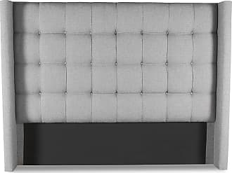 SOUTH CONE Patrick Winged Box Tufting Upholstered Headboard Charcoal, Size: Queen - PATRWINHEADHIQNCHRC