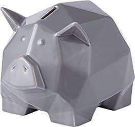 Varaluz Casa 401A15GR Origami Zoo Ceramic Piggy Bank - Gray