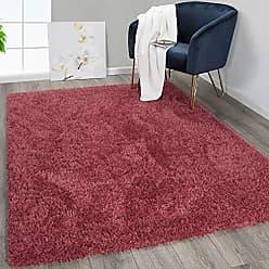 Ottomanson FFR1000-7X10 Flokati Area Rugs, 67 x 93, Red