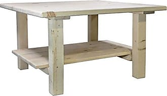 Montana Woodworks MWHCCOCT Homestead Collection Cocktail Table with Shelf, Ready to Finish