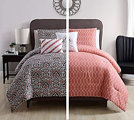 VCNY Home VCNY Home Corliss Reversible Damask 5 Piece Bedding Comforter Set, Full/Queen, Coral