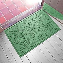 Bungalow Flooring AquaShield Beachcomber Doormat, 2 x 3, Light Green
