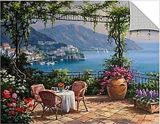 Brushstone Sung Kim Villa Carlotta Terrace Gallery Wrapped Canvas, 24X32
