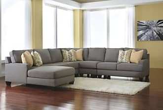 Ashley Furniture Chamberly 5-Piece Sectional with Chaise, Alloy