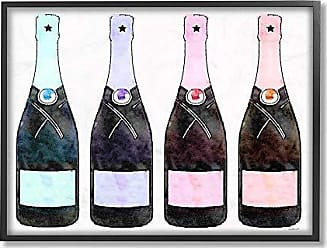 Stupell Industries The Stupell Home Decor Collection Rainbow Champagne Framed Giclee Texturized Art, 16 x 20, Multicolor
