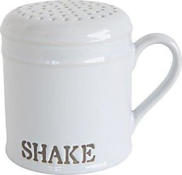 Creative Co-op DA7244 Shake White Stoneware Kitchen Shaker
