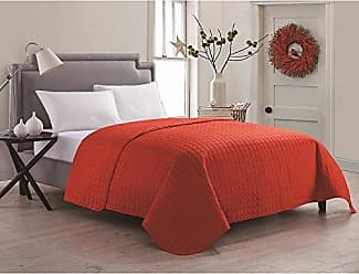 VCNY Home VCNY Home Jackson Luxurious Microfiber Embossed Quilted Coverlet / Bedspread with Geometric Design Red King