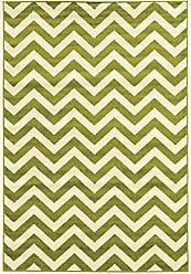 Linon Linon Claremont Collection Chevron Green Synthetic Rugs, 8x102