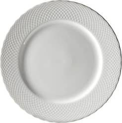 10 Strawberry Street White Wicker 12 Charger Plate, Set of 6, White