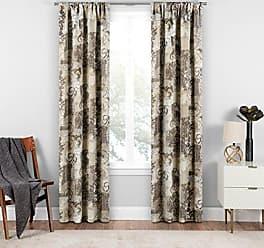 Ellery Homestyles Eclipse Chiswick Room Darkening Single Window Curtain, 37 x 95, Natural
