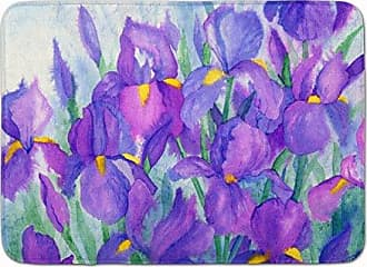 Carolines Treasures Abstract Flowers Purple and Yellow Floor Mat 19 x 27 Multicolor