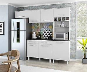 Mobly Cozinha Compacta Viena I 4 PT 1 GV Branco e Carvalho