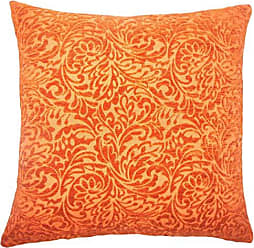 The Pillow Collection Taline Damask Bedding Sham Tangerine Euro/26 x 26