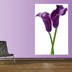 Ideal Decor Purple Calla Lilies Wall Mural - DM675
