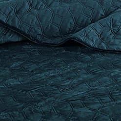 Madison Park Harper Velvet Full/Queen Size Quilt Bedding Set, Teal