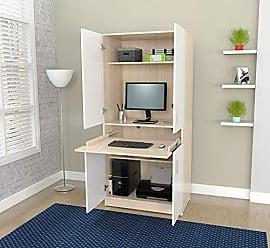 Inval America Inval AM-16423 Computer Desks, Laricina-White/Beech