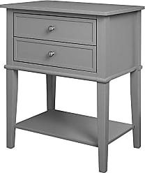 Dorel Home Products Ameriwood Home Franklin Accent Table with 2 Drawers, Gray