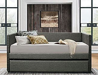 Homelegance Homelegance 4969GY Dufort Tuxedo Daybed with Trundle, Twin, Gray