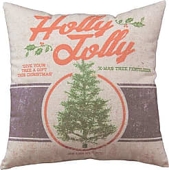 Primitives By Kathy Holiday Holly Jolly Throw Pillow