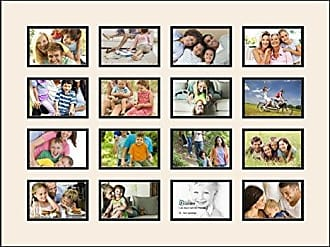 Art to Frames Art to Frames Double-Multimat-457-824/89-FRBW26079 Collage Photo Frame Double Mat with 16 - 4x6 Openings and Satin Black Frame