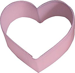 CybrTrayd R&M Heart 2.25 Cookie Cutter Pink With Brightly Colored, Durable, Baked-on Polyresin Finish