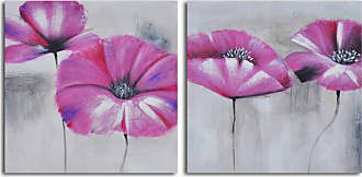 Omax Decor Pink Poppies in Mist 2-Piece Canvas Wall Art Set - A 0007