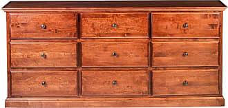 Forest Designs Traditional 9 Drawer Dresser with Black Knobs Unfinished Alder - B3044B-TA-UA