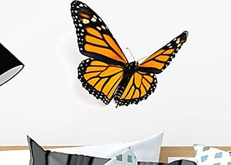 Wallmonkeys Monarch Butterfly Wall Decal Peel and Stick Graphic WM135402 (18 in W x 15 in H)