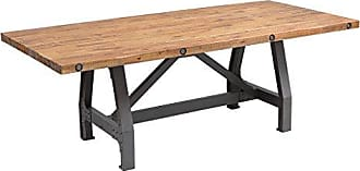 Ink + Ivy Ink+Ivy IIF20-0023 Lancaster Dining Solid, Metal Hardware Accent Amber Wood, Industrial Rustic Style Dinner Tables, 84 Wide