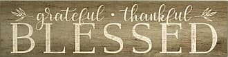 Stratton Home Decor Grateful Thankful Blessed Wall Art - S09608