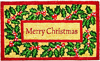 Geo Crafts Vinyl Back Ivy Merry Christmas Doormat