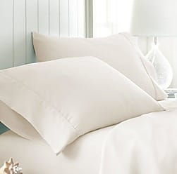 iEnjoy Home Simply Soft Pillow Case Set, King, Ivory