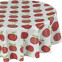 Ottomanson TAB6023-Round 8 Piece Turkish Cotton Towels, 55 Round, Multicolored Apple