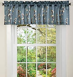 Lush Décor 18-Inch by 84-Inch Cocoa Flower Valance, Blue