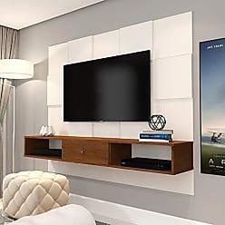 JB Bechara Painel JB 5025 Luxo Sala para TV até 50 Polegadas Pé Aço
