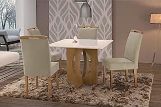 Siena Móveis Conjunto Sala de Jantar em Madeira Maciça Mesa Suécia 4 Cadeiras Priscila Siena Móveis Imbuia Natural/Suede 67