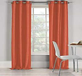 Duck River Textile s Bali Faux Silk Grommet Top Window Curtain 2 Panel Drape, 38W x 84L, Salmon