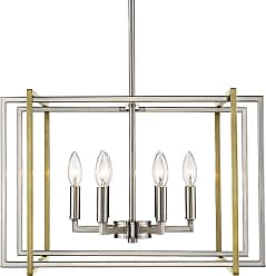 Golden Lighting 6070-6 PW Tribeca 6 Light 21 Wide Taper Candle