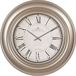 Nbg Home 30 Glenmont Wide Silver Framed Roman Numeral Wall Clock